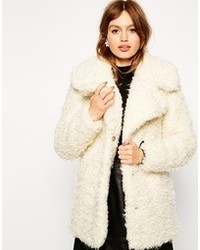 Collection faux curly fur coat medium 87649