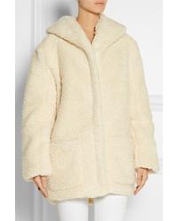 Maje Girofard Hooded Faux Shearling Coat | Where to buy & how to wear