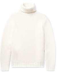 Tod's Textured Wool And Cashmere Blend Rollneck Sweater