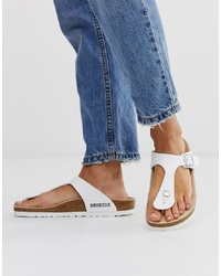 Birkenstock Gizeh Toepost Sandals In White