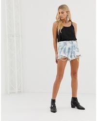 Blank NYC Tie Dye Raw Hem Denim Shorts