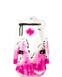 Prada Tie Dye Shirt Dress