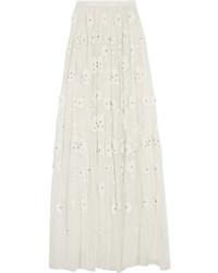 Embellished tulle maxi skirt ivory medium 443569