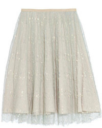 J.Crew Collection Tulle Midi Skirt