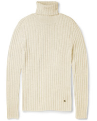 Gucci Ribbed Alpaca And Wool Blend Turtleneck Sweater