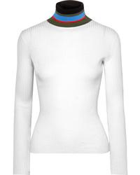 Proenza Schouler Ribbed Cotton Turtleneck Sweater