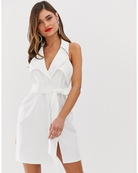 ASOS DESIGN Mini Trench Dress In Soft Crepe