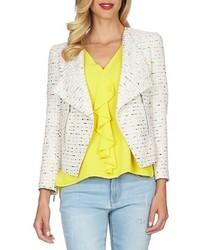 Cece By Cynthia Steffe Tweed Asymmetrical Jacket