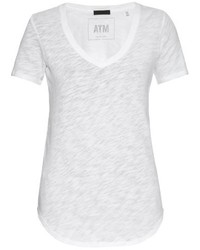 Atm V Neck Slub Cotton Jersey T Shirt