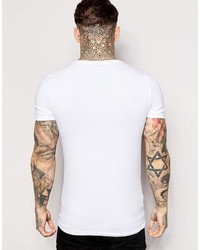 5b5b3da99e ... Asos Brand Extreme Fitted Fit T Shirt With Deep V Neck And Stretch ...