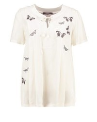 Max Mara Landa Print T Shirt White