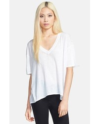 Leith Short Sleeve Burnout V Neck Tee