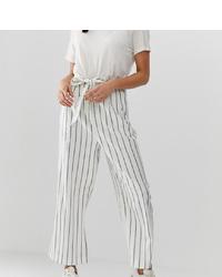 Asos Tall Asos Design Tall Linen Culottes In Stripe