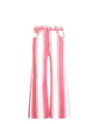 Frame Denim Stripped Crop Trousers