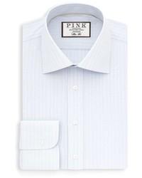 Thomas Pink Slim Fit Stripe Dress Shirt