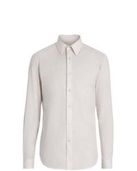 Burberry Slim Fit Striped Cotton Poplin Dress Shirt