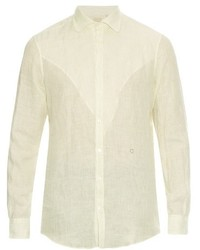 Massimo Alba Long Sleeved Linen Shirt
