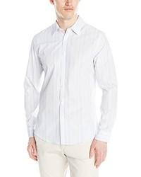 Calvin Klein Variegated Fine Stripe Long Sleeve Woven Shirt
