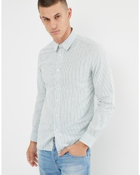 United Colors of Benetton Slim Fit Stripe Shirt In White