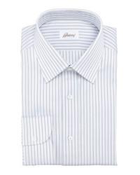 Brioni Striped Dress Shirt Navywhite