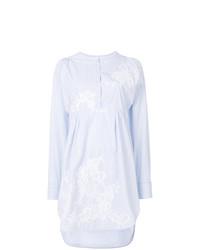 Ermanno Scervino Round Neck Striped Shirt Dress