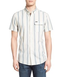 Volcom Moon Dawg Slim Fit Stripe Woven Shirt