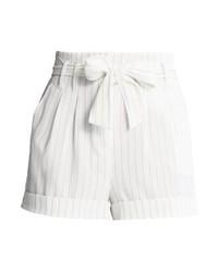 New Look Pinstripe Shorts White