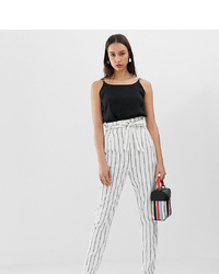 Asos Tall Asos Design Tall Linen Tapered Peg Trousers