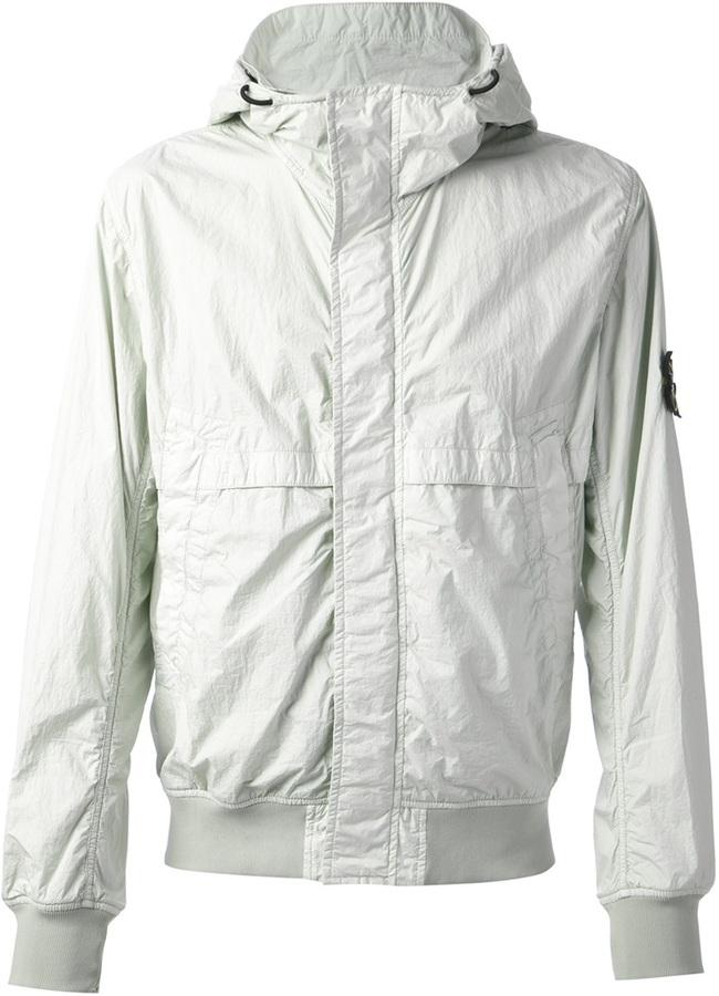c96ef2497e ... Stone Island Hooded Windbreaker Jacket
