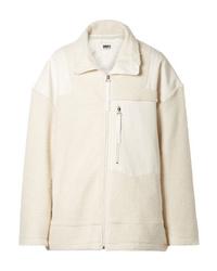 MM6 MAISON MARGIELA Ed Wool Blend Fleece And Canvas Jacket