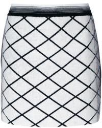 White Wool Mini Skirt