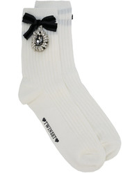 Embellished bow socks medium 4414152