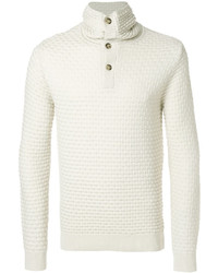 Buttoned roll neck sweater medium 5144405