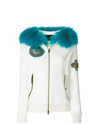Mr & Mrs Italy Waffled Fur Trim Hoodie Unavailable