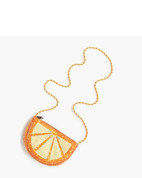 J.Crew Girls Glitter Orange Slice Bag