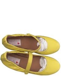 Yellow Ballet Flats