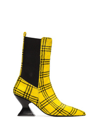 MARQUES ALMEIDA Marquesalmeida Checked Print Ponyhair 75 Boots