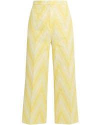 Rochas Chevron Jacquard Cotton Blend Culottes