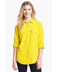 Nexx Silk Blouse Yellow Medium