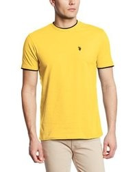 Yellow Crew-neck T-shirt