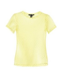 New Look Print T Shirt Bright Yellow