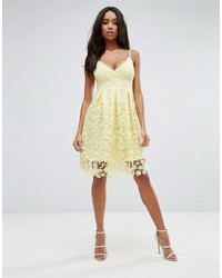 85092147a2d9 ... Lipsy Midi Dress In Crochet Lace ...