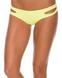 Yellow Cutout Bikini Pant