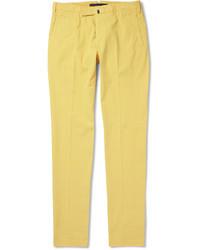 Slim fit cotton blend trousers medium 38632
