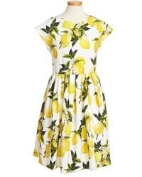 Dolce & Gabbana Toddler Girls Dolcegabbana Limoni Cap Sleeve Dress