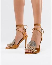 ASOS DESIGN Harrison Embellished Heeled Sandals