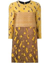 Scanlan Theodore Metallic Brocade Dress