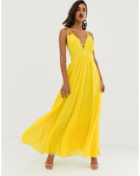 ASOS DESIGN Maxi Dress With Cami S And Cut Out Detail