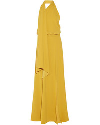 Co One Shoulder Washed Satin Gown Marigold