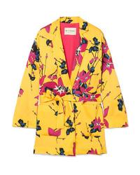 Yellow Floral Blazer